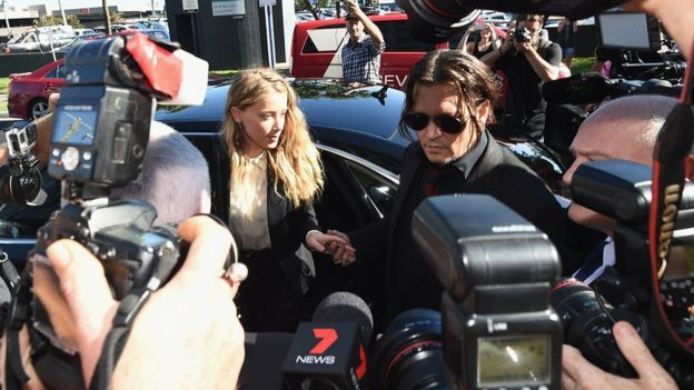 Joan of Arc and Lord Byron faced a huge media contingent when they arrived at court in Australia on Monday.