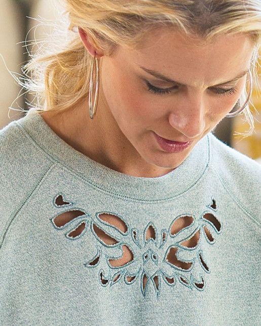 Urban Chic Pullover - French Terry Sweatshirt | Soft Surroundings