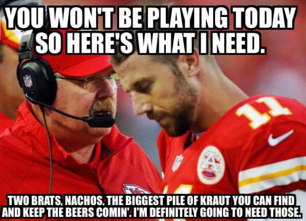 The Chiefs QB Alex Smith has been made of several times on the Internet in hilarious fashion.