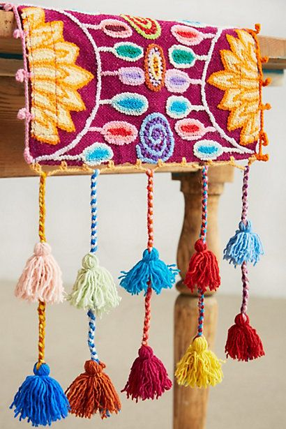 Table Runner for those without a budget BUT these are amazing for a mexican fiesta!