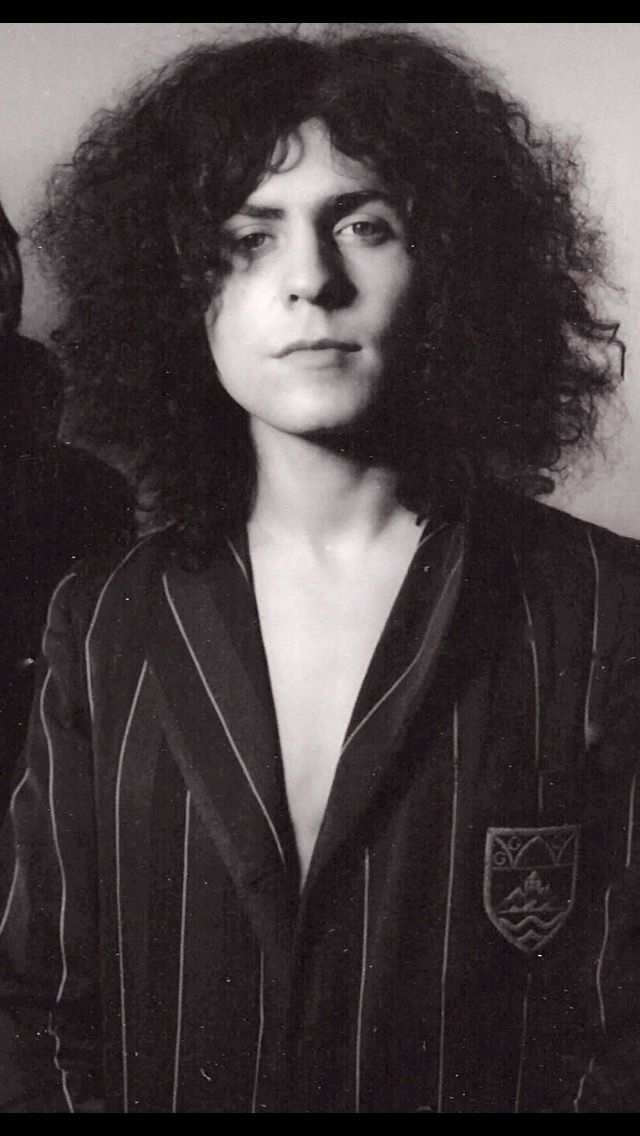 Marc Bolan, school blazer.