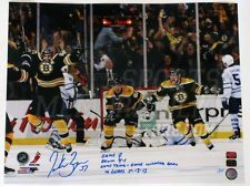 Patrice Bergeron Boston Bruins Limited Edition GAME 7 Signed Inscribed 16x20