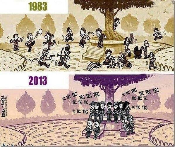Bahçede oynayan çocuklar ve değişen oyunlar...