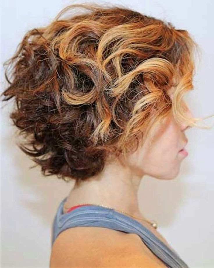 short curly hairstyles back view - Google Search