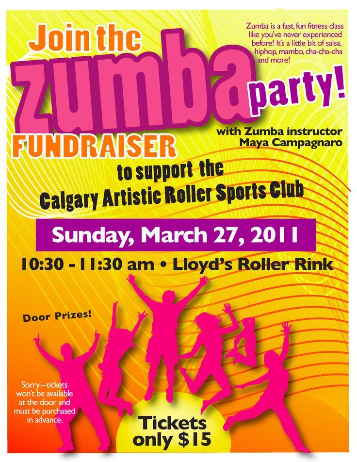 Zumbathon Poster Zumba fundraiser poste...