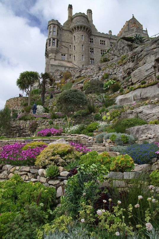 St Michael's Mount, Cornwall, England by Andrew-Holloway