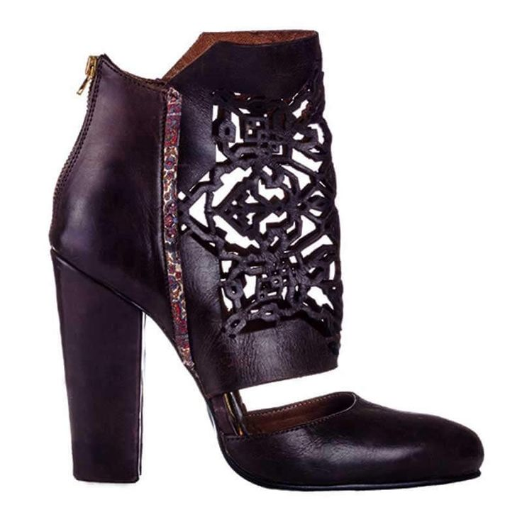 Black leather boots - romanian designers SHOP ONLINE