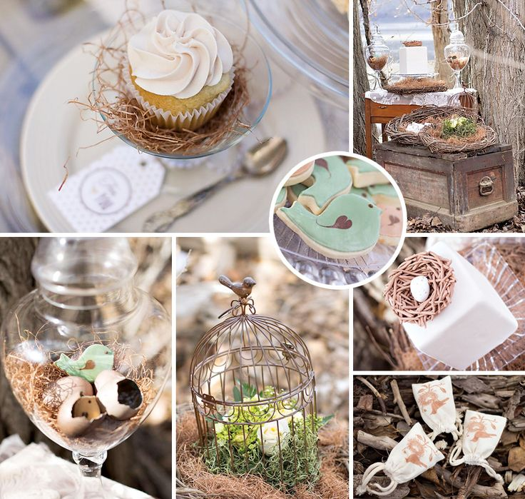 """Head on over to the blog for Events by Kate's {rustic & beautiful} gender neutral """"Bless This Nest"""" Bird Baby Shower! #Bird #BabyShower http://hwtm.me/14BKElM"""