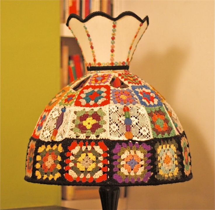 crochet lampshade : a league of its own