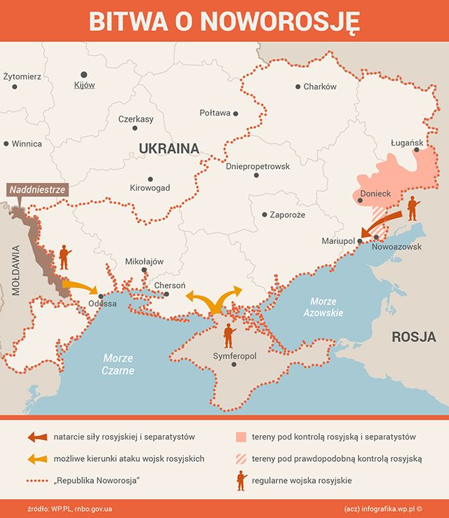 "Possible further directions of Russian and separatist offensive against Ukraine after ""ceasefire"" 05.09.2014"