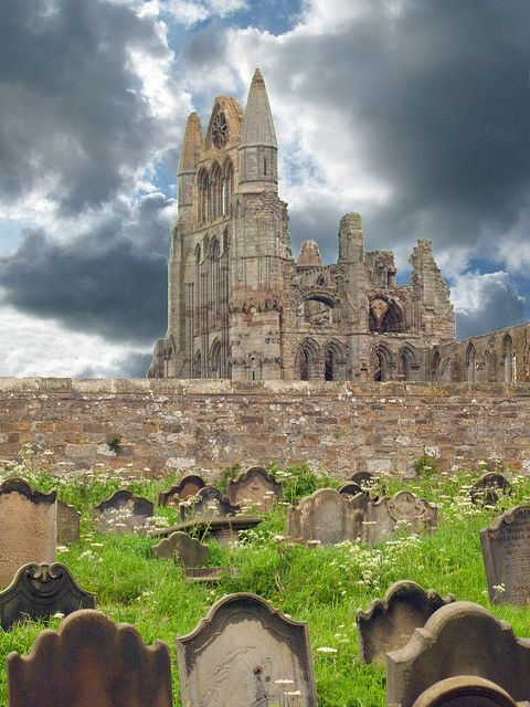 Whitby Abbey by davekpcv, via Flickr  My ancestor, Thomas Pinkney is buried here.