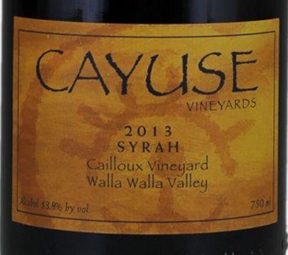 2013 Cayuse Syrah Cailloux Vineyard