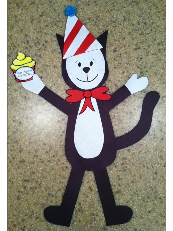 Three Freebies for Read Across America: Two Centers and Birthday Cat Craftivity