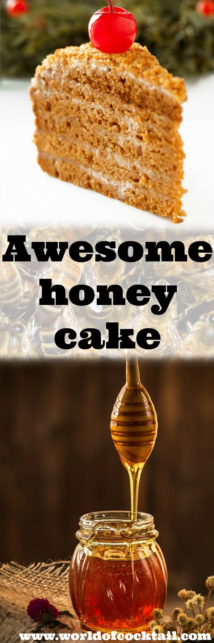 Take home one of the most popular cakes in the world… Recipe: 250 g butter for baking 3 eggs 3 tablespoons dark honey 300 g sugar grit 400 g plain flour 1 teaspoon baking soda 1 handful of walnuts for garnish THE CREAM 1 tin of caramel Salka (milk caramel) 300 g butter …