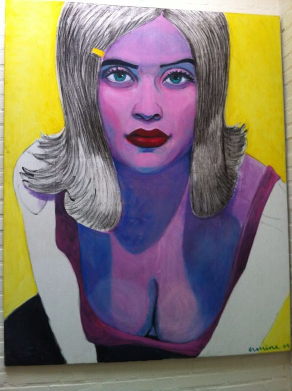 Pin up, mixed media on canvas, 120x150cm, @erminepoort