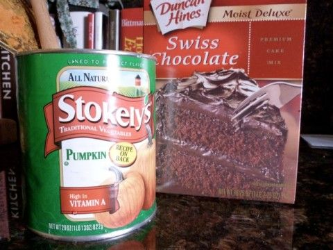 Canned Pumpkin & Chocolate Cake Mix