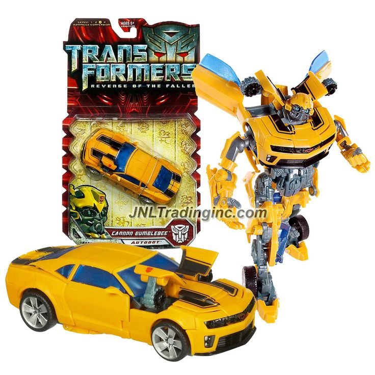 """Hasbro Year 2009 Transformers Movie Series 2 """"Revenge of the Fallen"""" Deluxe Class 6 Inch Tall Robot Action Figure - Autobot CANNON BUMBLEBEE with Pop Out Cannons (Vehicle Mode: Camaro Concept)"""