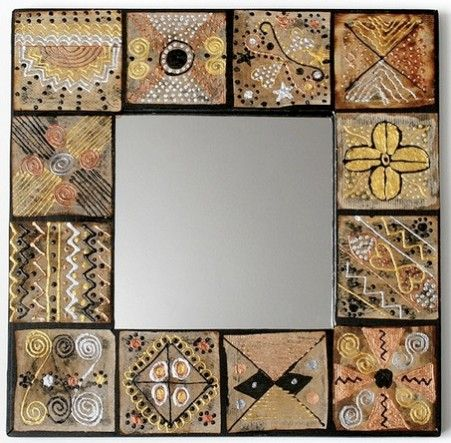 Teabag Mirror frame from Tea Bag Art from Around the Google World! - Coach Creative Space