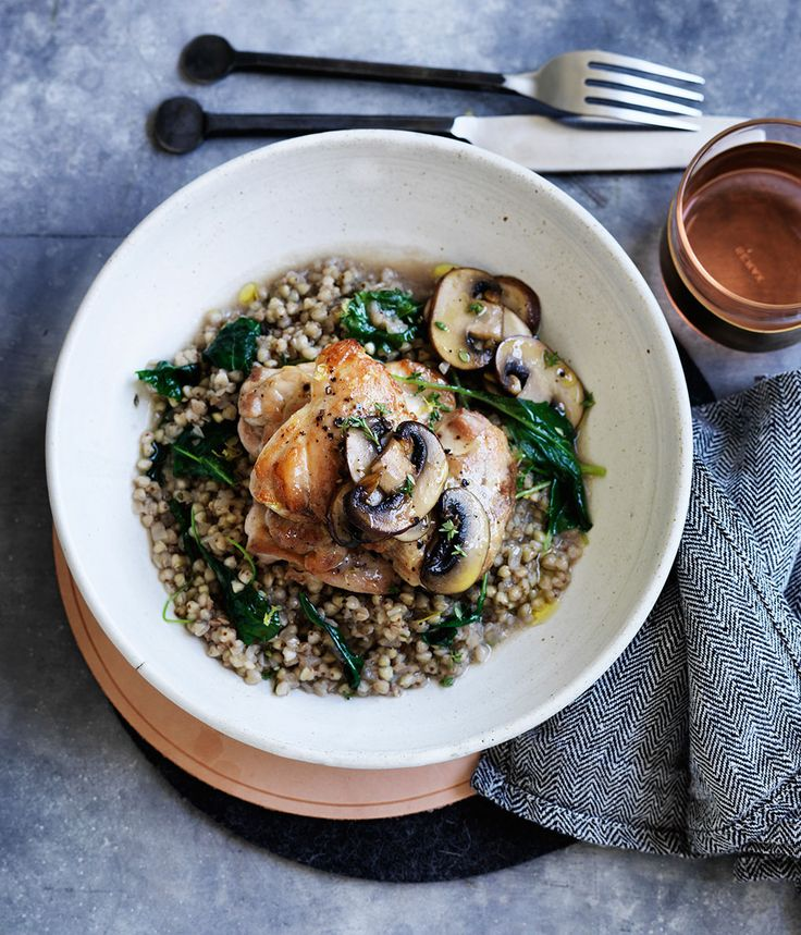 Dried mushrooms add depth of flavour while fresh mushrooms add a beautiful earthiness to this dish.