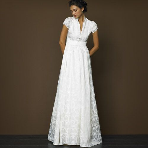 J Crew, Daphne.  Ahhh mythical holy grail of all jcrew wedding gowns.  sadly it's no longer available.