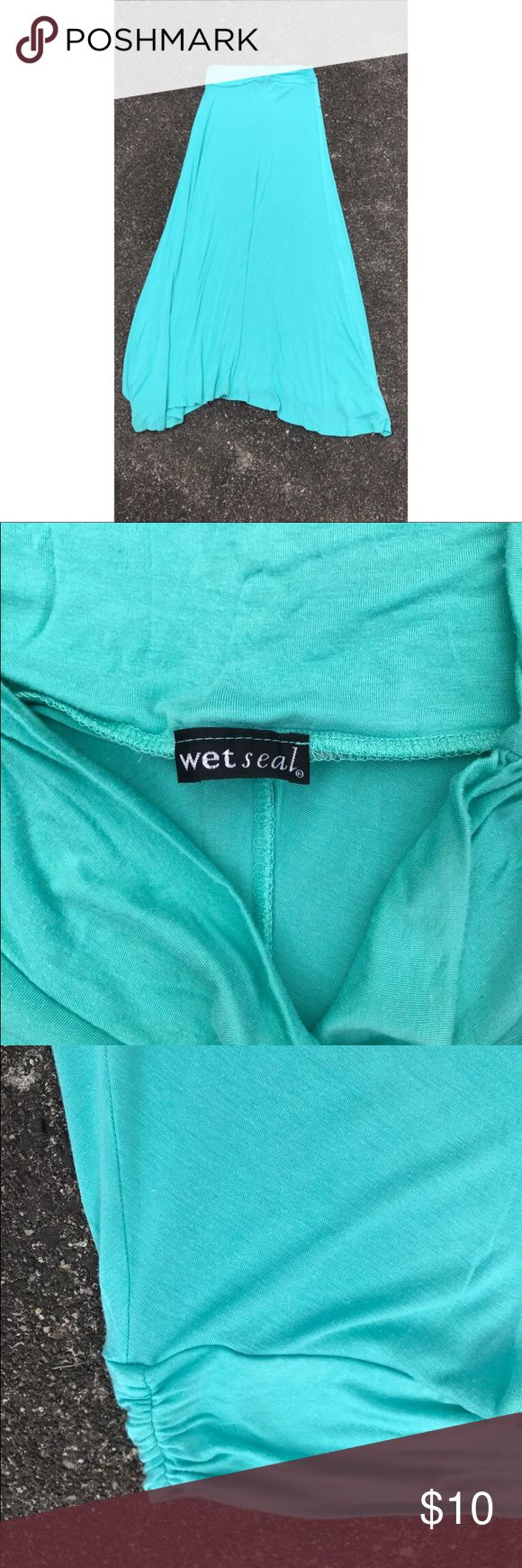 Wet Seal's Teal maxi skirt Long. Beautiful teal color. Never worn because it was too long on me (I'm 5'1) Wet Seal Skirts Maxi