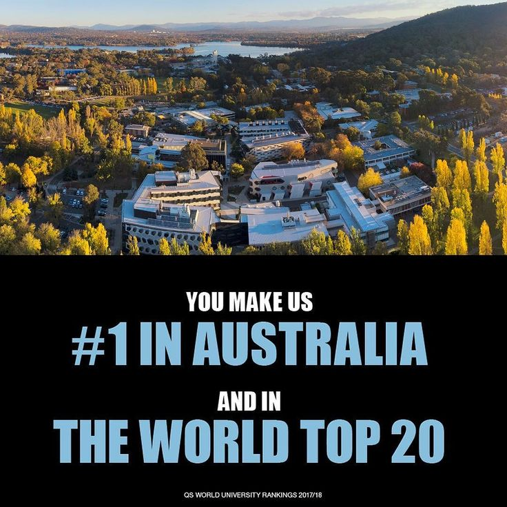 The Australian National University (ANU) has reaffirmed its place as Australias top university positioned among the top 20 universities in the world according to the latest QS rankings for 2017/18. #YouAreANU #ourANU