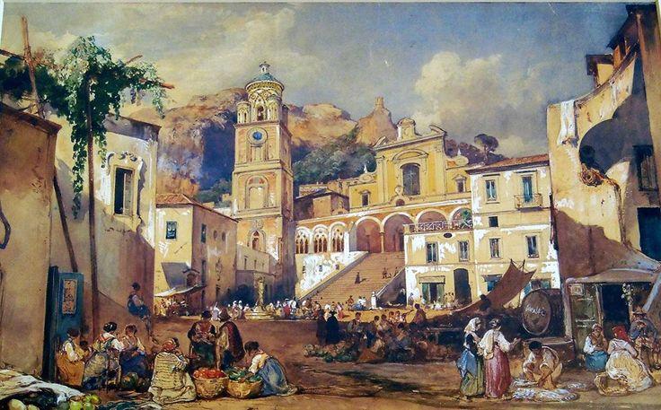 Giacinto Gigante (1806-1876) Duomo di Amalfi, Salerno Museo Nazionale di Capodimonte, Napoli