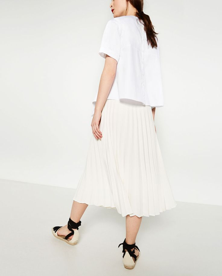 Image 4 of ACCORDION PLEAT SKIRT from Zara