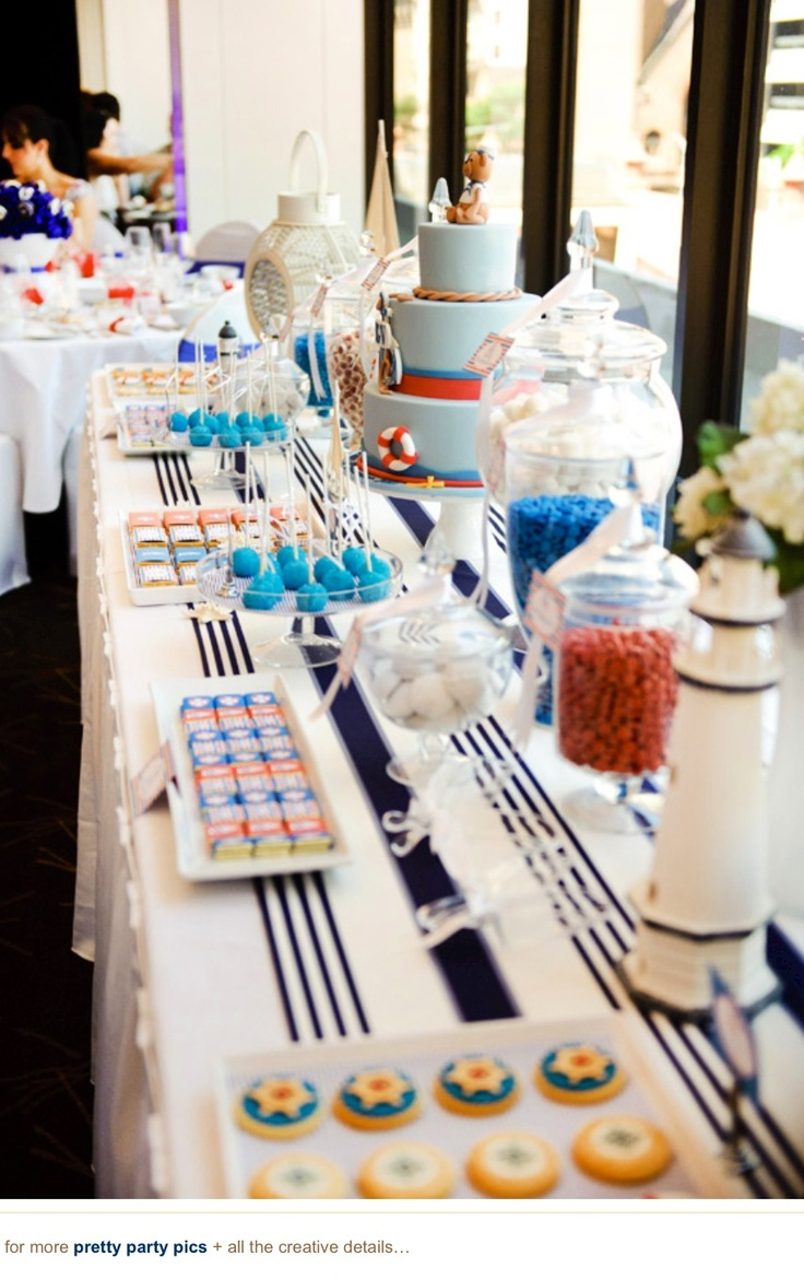 Nautical Themed Baby Shower...for the next one...if its a boy