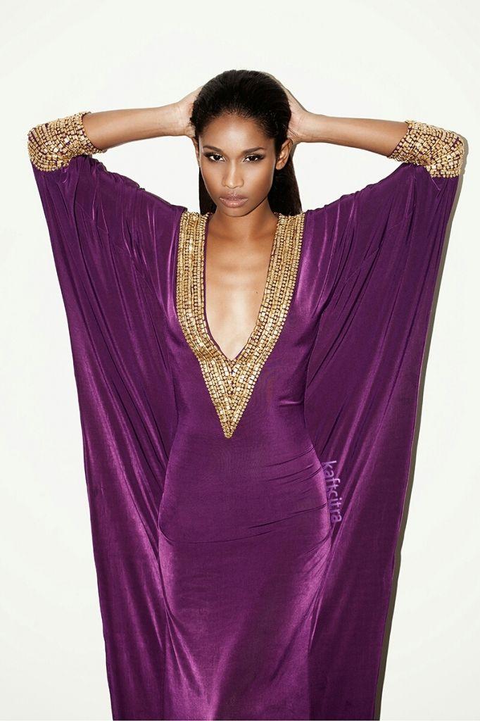 Purple and gold Kaftan