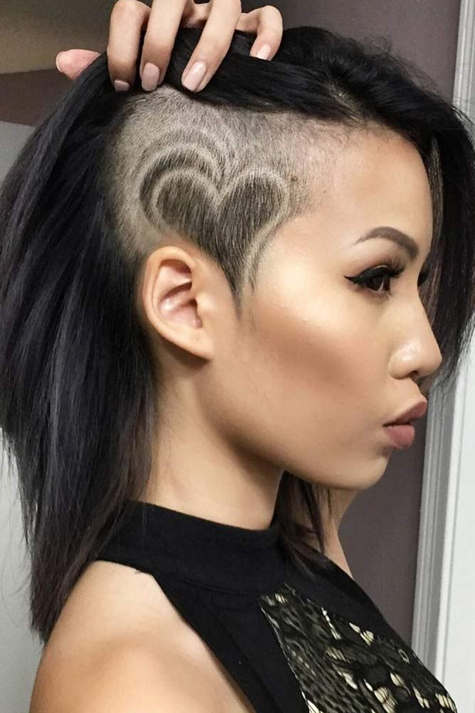 30 Cute & Rebellious Half Shaved Head Hairstyles For