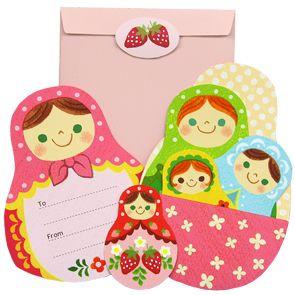 Adorable free printable Matryoshka Card Set