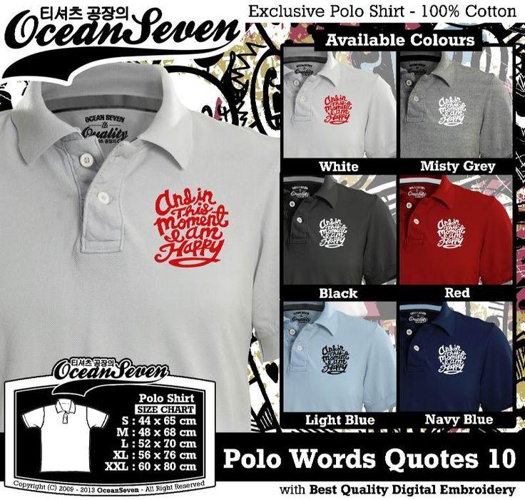 Kaos Polo Tulisan Unik | WORDS AND QUOTE SERIES 1