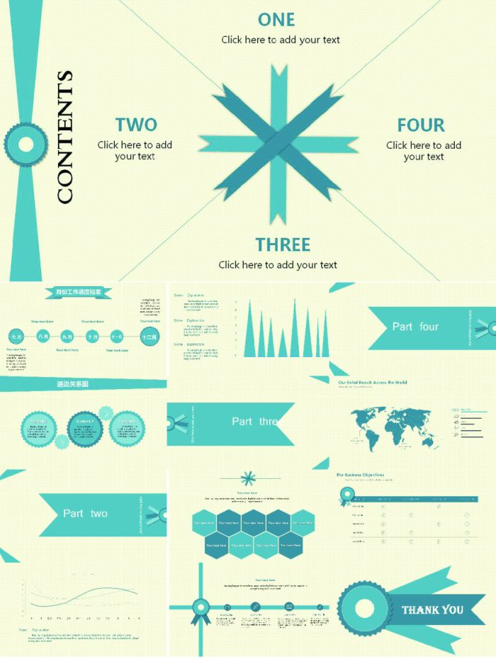 elegant and fresh retro dynamic powerpoint template powerpoint