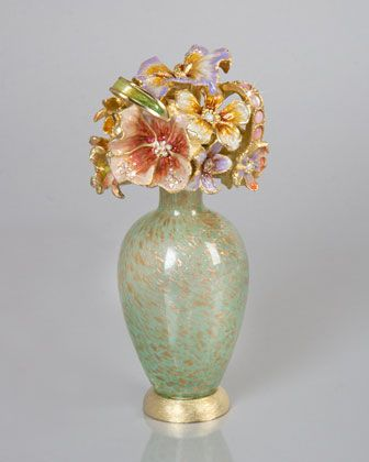 Bouquet Perfume Bottle by Jay Strongwater at Neiman Marcus.
