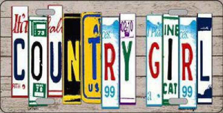 Country Girl License Plate Art Tag Sign