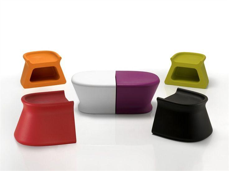 VONDOM | PAL CollectionPAL | Garden side tablePolyethylene Garden side table / Garden Stool, Design by Karim Rashid (2010)