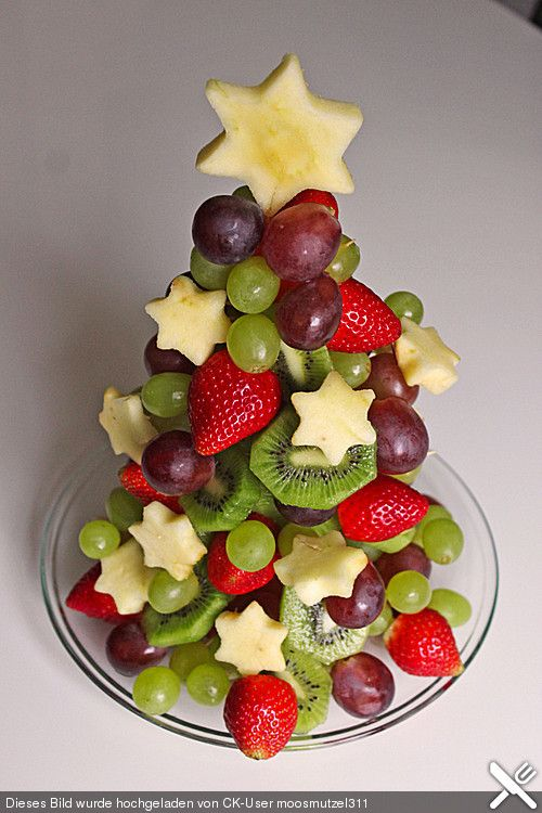 Obst-Weihnachtsbaum, ein gutes Rezept aus der Kategorie Frucht. Bewertungen: 6. Durchschnitt: Ø 3,9.