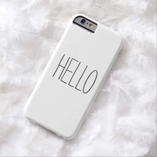 "Funny, cute, ""Hello"" or custom create your own customizable saying hipster iPhone 6 case cover."