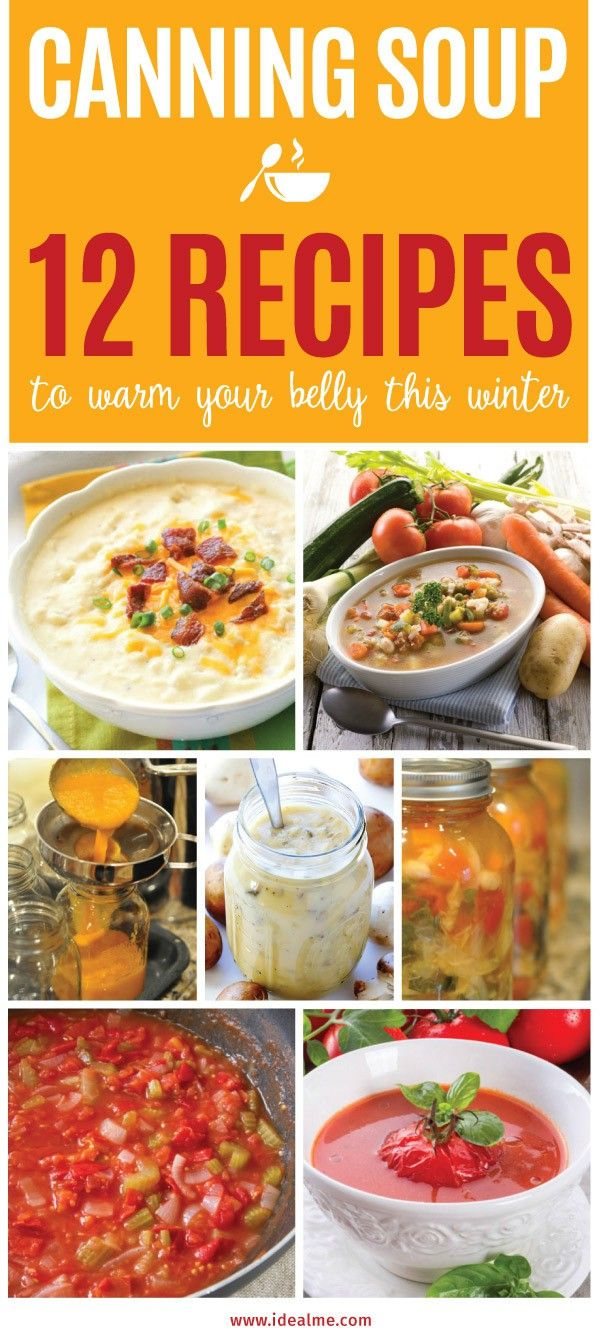 Canning homemade soupscanhelp you save money, gain control over what's in your food, and save you time when you need a quick meal. Make your own canned soup with one of these delicious twelve recipes today.