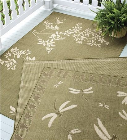 Spring meadow rug adds softness and style to your porch or for All weather patio rugs