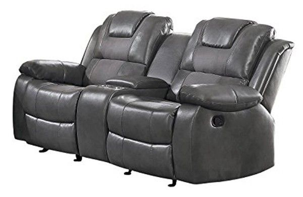 Homelegance - Taye Double Glider Reclining Loveseat with ...