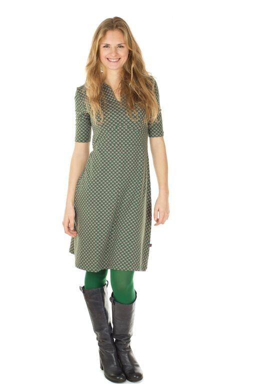Froy & Dind jurk Polly Art Deco green Poppy