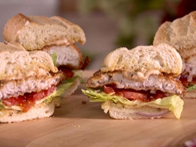 Catfish Sandwiches with Cajun Remoulade Recipe : Sandra Lee : Food Network - FoodNetwork.com
