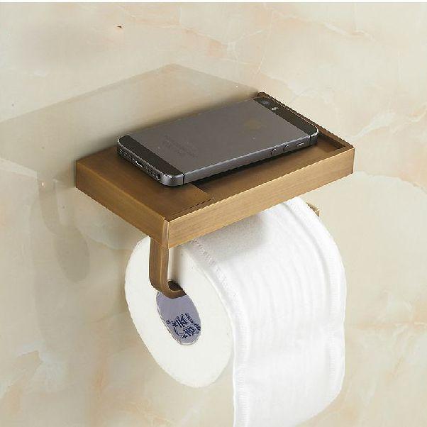 2014 nieuwe aankomst antiek brons messing toiletpapier houder/wc-papier houder/papierrolhouder badkamer accessoires 59111(China (Mainland))