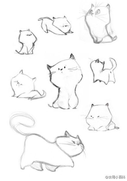 Stylized drawing of cats.