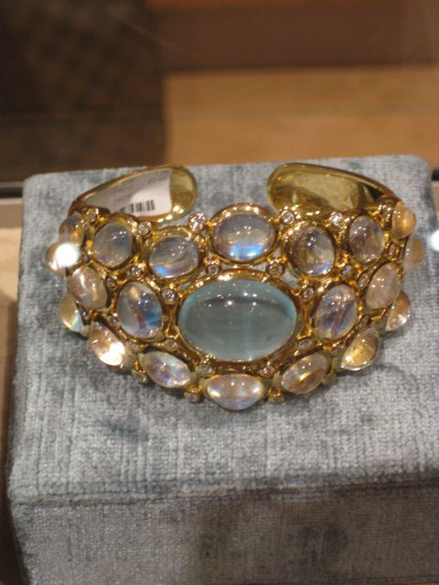 Moonstone cuff by Temple St. Clair