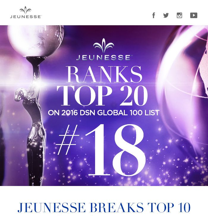 18th largest worldwide and #9 in North America www.panamagirl.jeunesseglobal.com