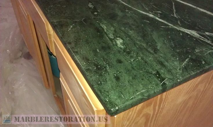 Edging On Green Serpentine Mini Countertop Marble Restoration