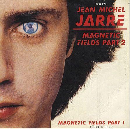 """Jean Michel Jarre magnetic fields part 2 single vinilo 7"""" 45 rpm vinyl single, Mercado de la Tía Ni, Sabarís, Baiona."""